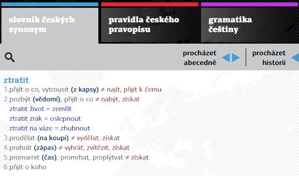 Lingea: Slovník českých synonym