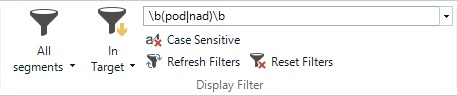 regex trados filtr